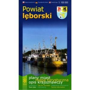 Powiat lęborski Mapa