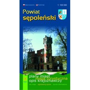 Powiat sępoleński Mapa 2011