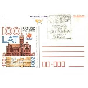 100 lat Ratusz w Słupsku Kartka pocztowa