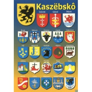 Kaszuby Herby 23 miast Pocztówka