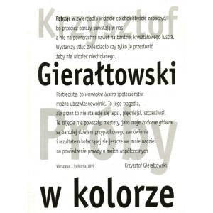"""Krzysztof Gierałtowski """"Próby w kolorze"""""""